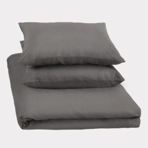 Bambus dobblet sengetøj i koks grå fra Bambuni