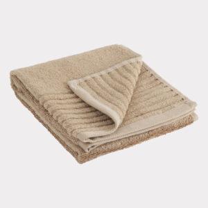 Bambus gæstehåndklæde sand fra Bambuni