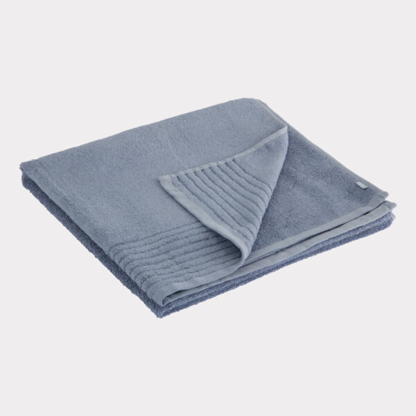 Bambus håndklæde blå Bambuni