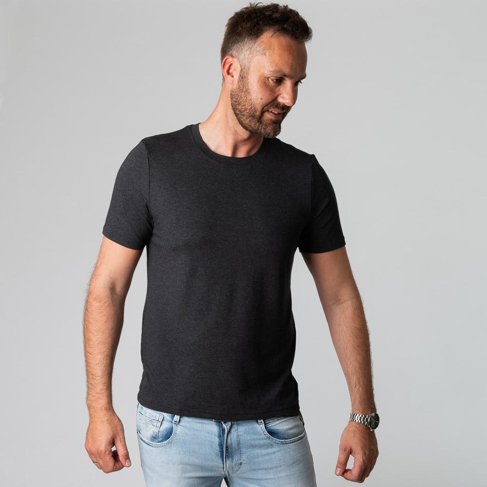 Bambus t-shirt koksgrå til mænd fra Bambuni
