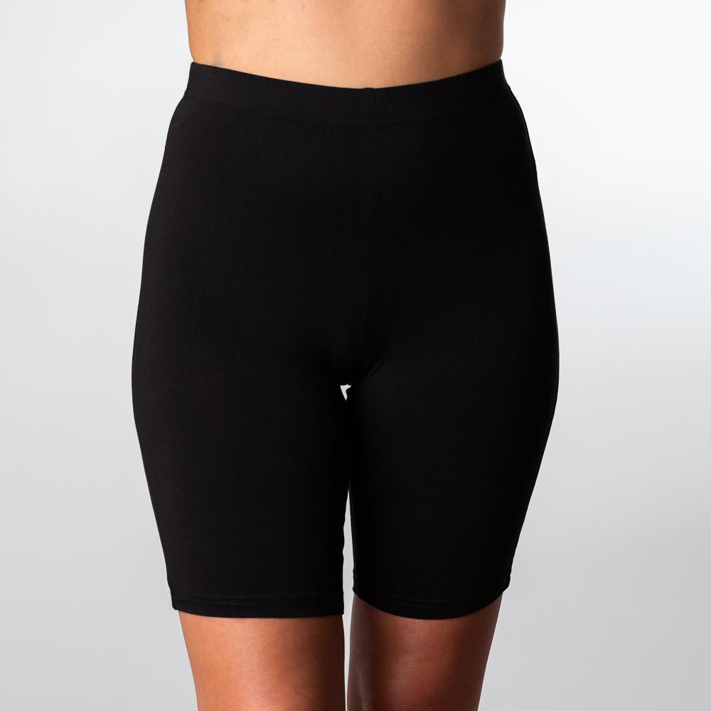 Bambus shorts i sort til kvinder