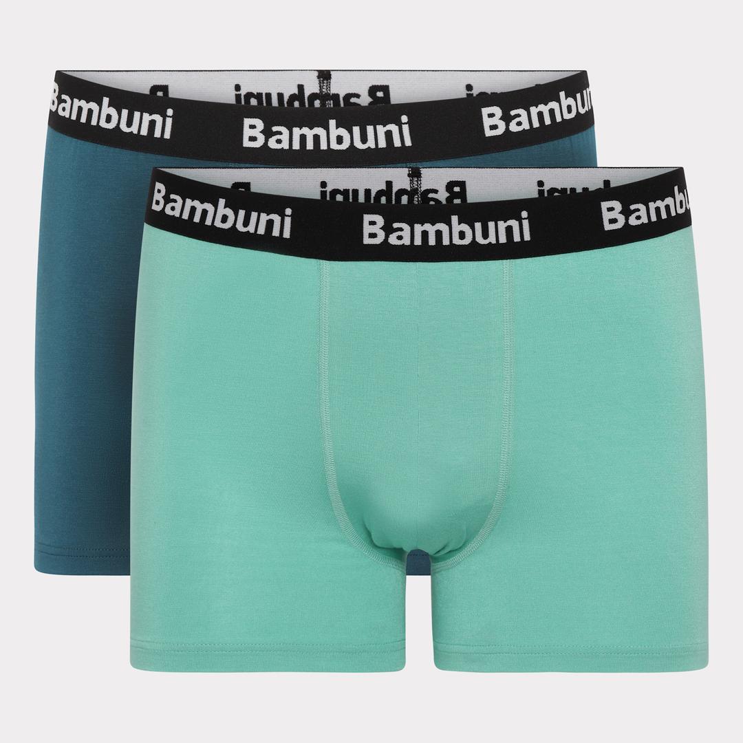 Bambus underbukser grøn og mint bambuni