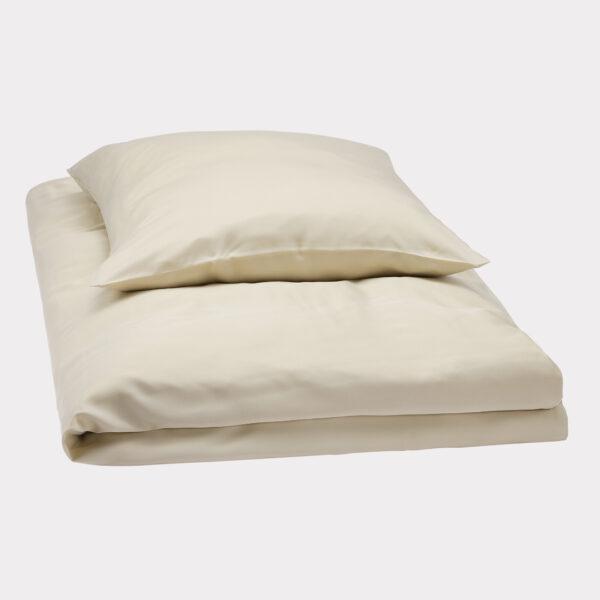 Bambus sengetøj i beige fra Bambuni