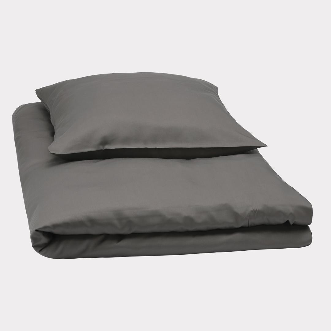 Bambus sengetøj i mørkegrå fra Bambuni