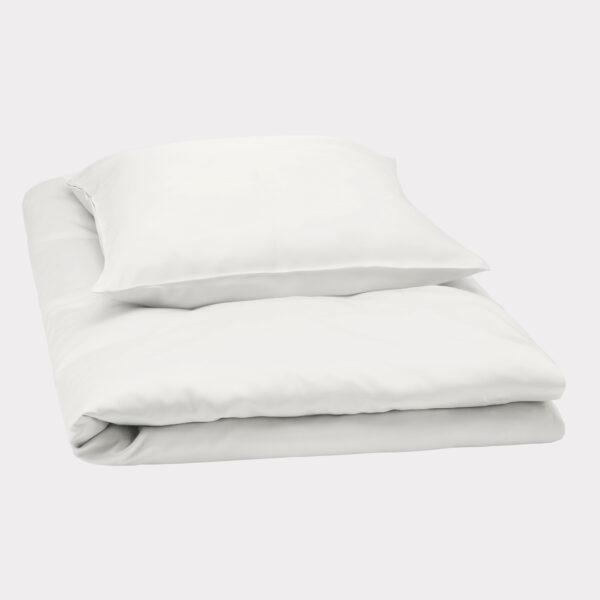 Bambus sengetøj hvid fra Bambuni