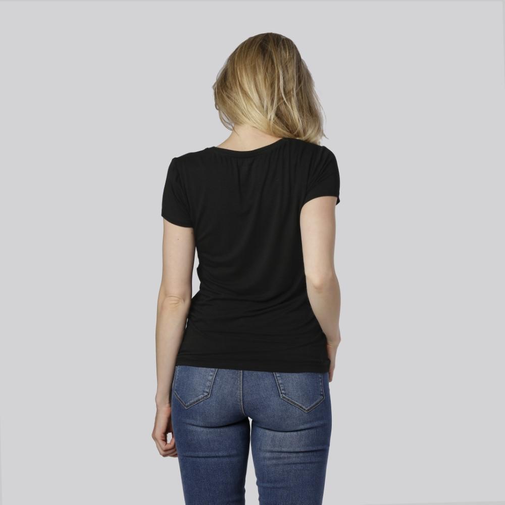 Bambus T-shirt O-hals i sort fra Bambuni