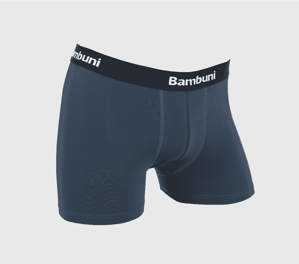 Image of   Bambus underbukser i petrol til mænd str. Small-3XL- 129,- kr./stk