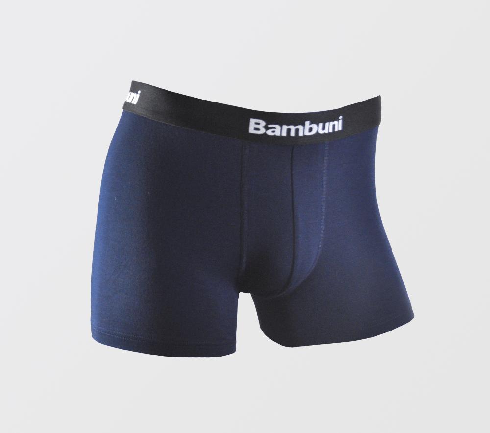 Image of   Bambus underbukser i navy blå til mænd str. Small-3XL- 129,- kr./stk