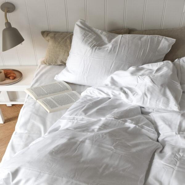 ambus sengetøj hvid 140*220 fra Bambuni