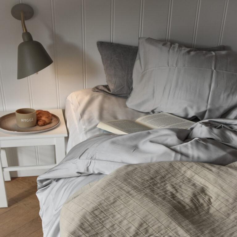 ambus sengetøj lysegrå 140*220 fra Bambuni